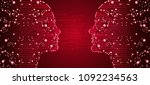 big data  artificial... | Shutterstock .eps vector #1092234563