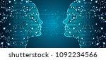 big data  artificial... | Shutterstock .eps vector #1092234566