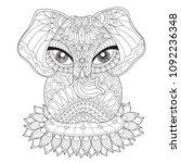 indian lucky elephant.... | Shutterstock .eps vector #1092236348