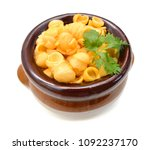 homemade macaroni and cheese in ... | Shutterstock . vector #1092237170