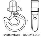hook for the lift  hook for the ... | Shutterstock .eps vector #1092241610