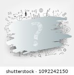 mathematical equations and... | Shutterstock .eps vector #1092242150