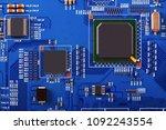 electronic circuit board close... | Shutterstock . vector #1092243554
