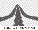 winding road vector illustration | Shutterstock .eps vector #1092243728