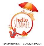 summer vacation at sea  travel  ...   Shutterstock .eps vector #1092245930