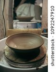 process of making the ceramic... | Shutterstock . vector #1092247910
