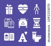 set of 9 other filled icons... | Shutterstock .eps vector #1092253070