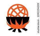 boiling the globe    global... | Shutterstock .eps vector #1092254399