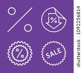 set of 4 sale outline icons... | Shutterstock .eps vector #1092256814