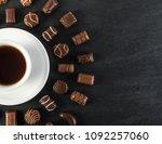 beautiful creative chocolate...   Shutterstock . vector #1092257060