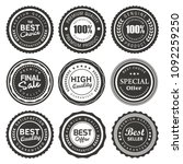 vector premium quality labels... | Shutterstock .eps vector #1092259250