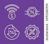 set of 4 price outline icons... | Shutterstock .eps vector #1092260354