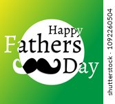 happy fathers day sticker on... | Shutterstock .eps vector #1092260504