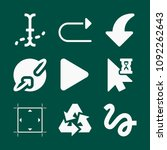 set of 9 arrows filled icons...   Shutterstock .eps vector #1092262643