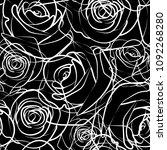 roses pattern seamless tile...   Shutterstock .eps vector #1092268280
