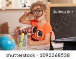 girl  learning at kindergarten... | Shutterstock . vector #1092268538
