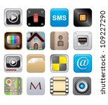 apps icon set one   Shutterstock .eps vector #109227290