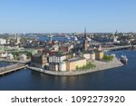 an amazing view of stockholm... | Shutterstock . vector #1092273920