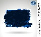 blue brush stroke and texture....   Shutterstock .eps vector #1092274676