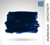 blue brush stroke and texture....   Shutterstock .eps vector #1092274679