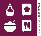 cooking icon set   filled... | Shutterstock .eps vector #1092277769