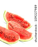 big red watermelons isolated on ... | Shutterstock . vector #109227989