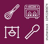 cooking icon set   outline... | Shutterstock .eps vector #1092280874