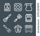 cooking icon set   outline... | Shutterstock .eps vector #1092285890