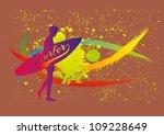 splash surfer | Shutterstock .eps vector #109228649