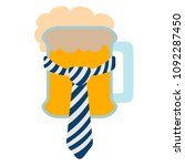 isolated beer with a necktie... | Shutterstock .eps vector #1092287450