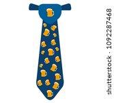 necktie with beer icons | Shutterstock .eps vector #1092287468