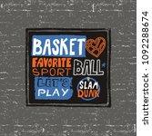 vector sketch print for... | Shutterstock .eps vector #1092288674