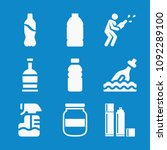 filled bottle icon set such as... | Shutterstock .eps vector #1092289100