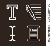text icon set   outline... | Shutterstock .eps vector #1092289430