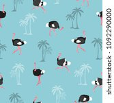 Seamless Trendy Pattern With...