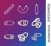 sausages icon set   outline... | Shutterstock .eps vector #1092294926