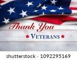 united states flag on white ...   Shutterstock . vector #1092295169