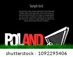 word poland and soccer ball in...   Shutterstock .eps vector #1092295406