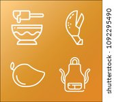 cooking icon set   outline... | Shutterstock .eps vector #1092295490