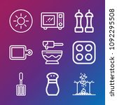 cooking icon set   outline... | Shutterstock .eps vector #1092295508