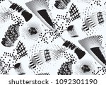 vector seamless pattern with... | Shutterstock .eps vector #1092301190