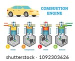 combustion engine technical... | Shutterstock .eps vector #1092303626