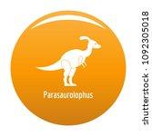parasaurolophus icon. simple... | Shutterstock .eps vector #1092305018