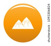 snow peak icon. simple... | Shutterstock .eps vector #1092306824