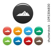 tall mountain icon. simple... | Shutterstock .eps vector #1092306830