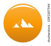 mountain peak icon. simple... | Shutterstock .eps vector #1092307544