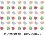chick pattern background | Shutterstock .eps vector #1092308678