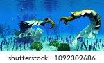 anomalocaris in cambrian seas... | Shutterstock . vector #1092309686