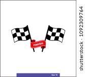 checkered racing flag icon.... | Shutterstock .eps vector #1092309764