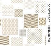 japanese pattern vector. gold... | Shutterstock .eps vector #1092310700